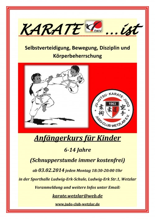 KARATE FLYER Kinder 20141