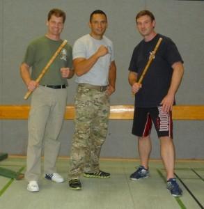 Links Dirk Schwantes Roy, Mitte Jared Wihongi, rechts Mathias Watz