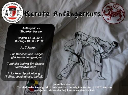 Karate Anfängerkurs 2017